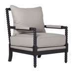 Colonnade Spindle Accent Chair With Upholstered Seating