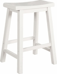 Color Story Pure White Counter Stool [270-430-FS-PO]