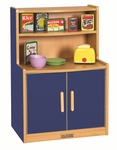 Colorful Essentials Kitchen Cupboard Play Station with Interior Shelves - Blue [ELR-0745-BL-ECR]