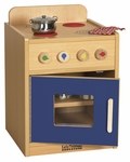 Colorful Essentials Kitchen Stove Play Station with Interior Shelves - Blue [ELR-0746-BL-ECR]