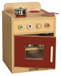 Colorful Essentials Kitchen Stove Play Station with Interior Shelves - Red [ELR-0746-RD-ECR]