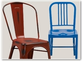 Colorful Metal Dining Chairs
