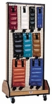 Combo Weights / Dumbbell Mobile Rack Only - 24''W X 18''L X 56''H [HAU-5565-FS-HAUS]