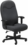 Comfort Executive High Back Posture Chair with Adjustable T Arms - Gray Fabric [9413AG2110-FS-MAY]