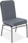 Comfort Class 300 lb. Capacity Stack Chair - Gray Fabric [300-SV-801-MFO]