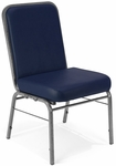 Comfort Class 300 lb. Capacity Anti-Microbial and Anti-Bacterial Vinyl Stack Chair - Navy [300-SV-VAM-605-MFO]