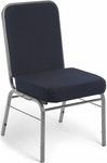 Comfort Class 300 lb. Capacity Stack Chair - Pinpoint Navy Fabric [300-SV-3145-MFO]