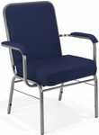 Comfort Class Big & Tall 500 lb. Capacity Stack Chair with Arms - Navy Fabric [300-XL-804-MFO]