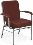 Comfort Class Big & Tall 500 lb. Capacity Arm Stack Chair - Pinpoint Burgundy Fabric [300-XL-3165-MFO]
