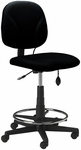 Comfort Series Quick Ship Swivel Task Stool with Twist and Lock Height Adjustable Footring - Black [4005AG2113-FS-MAY]