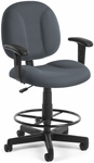 Comfort Superchair with Arms and Drafting Kit - Gray [105-AA-DK-801-FS-MFO]