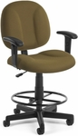 Comfort Superchair with Arms and Drafting Kit - Taupe [105-AA-DK-806-FS-MFO]