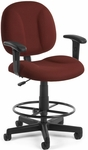 Comfort Superchair with Arms and Drafting Kit - Wine [105-AA-DK-803-FS-MFO]