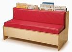 Comfy Reading Center with Area for Book Storage and Vinyl Covered Foam Cushions [WB0971-FS-WBR]