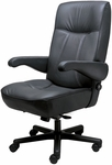 Commander Office Chair with Adjustable Lumbar Support- Leather [OF-COMDR-L-FS-ARE]