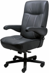 Commander Office Chair with Adjustable Lumbar Support- Leathermate [OF-COMDR-LLM-FS-ARE]