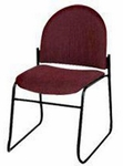 Endurance Contemporary Stack Chair with 2'' Thick Contoured Seat - Closed Back [2622PL-MPL]