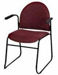 Endurance Contemporary Stack Chair with 2'' Thick Contoured Seat and Arms - Closed Back [2623PL-MPL]