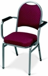 Prestige Banquet Stack Chair with Waterfall Style Seat and Arms - Crescent Back [1915-MPL]