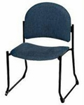 Endurance Contemporary Stack Chair with Bowed Sled Base - Crescent Back [2822PL-MPL]