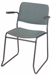 Endurance Contemporary Stack Chair with Contoured Seat and Arms - Open Back [2523-MPL]