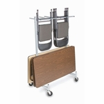 Compact Size Hanging Folded Chair and Table Storage Truck - 74''H [915-RPC]