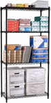 72'' H x 36'' W x 24'' D Complete 4-Shelf Unit - Black [S367224-BLK-MFO]