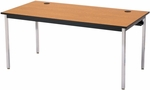 Rectangular Fixed Height Laminate Top Computer Table with Chrome Legs - 48''W x 30''D x 29''H [01548C-SCI]