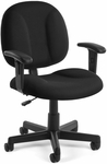 Comfort Superchair with Arms - Black [105-AA-805-FS-MFO]