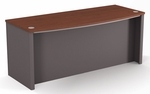 Connexion Executive Desk with Wire Management and Modesty Panel - Bordeaux and Slate [93400-1139-FS-BS]