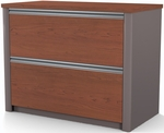 Connexion Two Drawer Lateral File for Legal and Letter Sized Papers - Bordeaux and Slate [93631-1139-FS-BS]