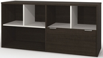 Contempo Credenza with One Legal or Letter Size Filing Drawer - Tuxedo [50610-1178-FS-BS]