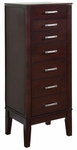 Contemporary ''Dark Espresso'' Jewelry Armoire [383-317-FS-PO]