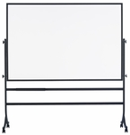 Contemporary Reversible Markerboard Board with Tuxedo Black Powder Coated Frame [RB-46C-MSH]