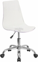 Contemporary Transparent Acrylic Swivel Task Chair with Chrome Base