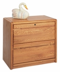 Contemporary Collection 33.75''W x 29''H Two Drawer Lateral File - Medium Oak [00450-FS-KIMF]