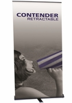 Contender Retractable Banner Stand in Black Finish 48''W [CN-48-B-FS-OR]