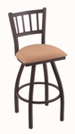 Contessa 25'' Black Wrinkle Finish Counter Height Swivel Stool with Gr 1 Axis Summer Fabric Seat [81025BWAXSSUM-FS-HOB]