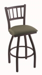 Contessa 25'' Black Wrinkle Finish Counter Height Swivel Stool with Gr 1 Axis Grove Fabric Seat [81025BWAXSGRV-FS-HOB]