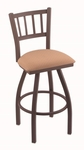 Contessa 25'' Bronze Finish Counter Height Swivel Stool with Gr 1 Axis Summer Fabric Seat [81025BZAXSSUM-FS-HOB]