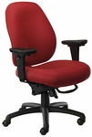 Contour II 400 Series Medium Back Multiple Shift Adjustable Swivel and Seat Height Task Chair [CO311-Q30-FS-SEA]