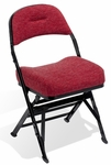 Contour Series Upholstered Seat and Back 18'' W Folding Chair with Manual Uplift Seat [4400C-CS]