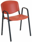 Active 21'' W x 23'' D x 30.25'' H Stack Chair - Set of Four [SS-19352-EOF]