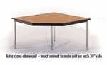 5 Sided Laminate Top Computer Table Corner Unit- 48''W x 29''H [01574-SCI]