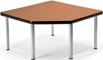 Corner Table with Five Silver Legs - Cherry [ET3030-CHY-SLG-FS-MFO]