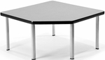 Corner Table with Five Silver Legs - Gray [ET3030-GRY-SLG-FS-MFO]