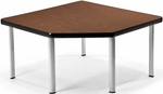 Corner Table with Five Silver Legs - Mahogany [ET3030-MHGY-SLG-FS-MFO]