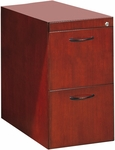 Corsica Desk File File Pedestal for Desk - Sierra Cherry on Cherry Veneer [CFFDCRY-FS-MAY]