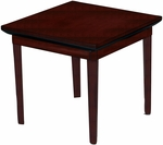 Corsica 24'' Square End Table - Sierra Cherry Finish on Cherry Veneer [CTSCRY-FS-MAY]
