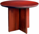 Corsica 42'' Dia x 29.5'' H Round Conference Table - Sierra Cherry Finish on Cherry Veneer [CTRNDCRY-FS-MAY]